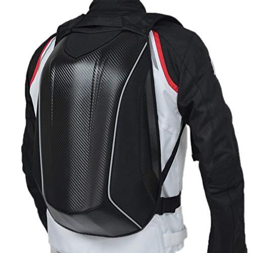 Per Zaino da Moto, Impermeabile Borsa per Moto, in fibra di carbonio, con guscio esterno rigido, ideale per ciclismo, sport all'aperto, Zaino da 30 L