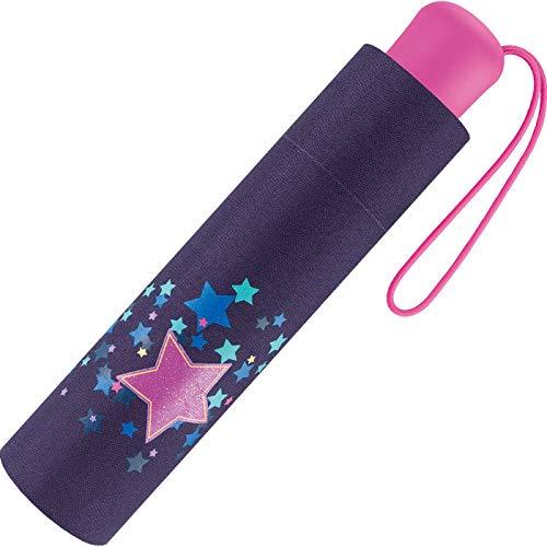 Scout Kinder-Taschenschirm mit reflektierenden Streifen Sweet Stars