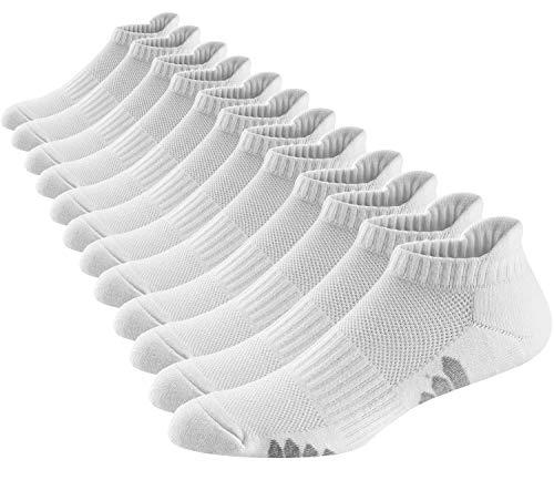 Ueither Calcetines Deportivos Cortos de Algodón para Hombre y Mujer Calcetines Tobilleros Ajuste Cómodo y Transpirables para Fitness, Running, Gimnasio y Otros Deportes