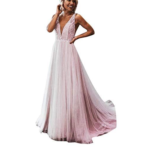 Vestidos Largo Mujer Elegante Vestido de Novia Vestidos de Boda del cordón Fiesta Vestidos Encaje Vestido de Cóctel Vestido de Noche Vestido Moda Vestidos Largo Sexys Cuello en v Vestidos vpass
