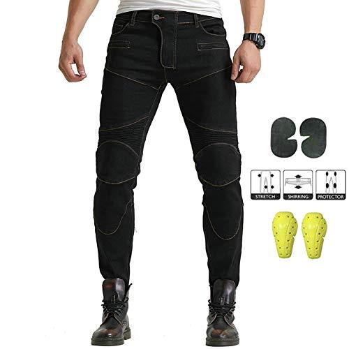URAURORA Hosen Motorrad Reitschutz, Street Bike Jeans Mit Upgrade-Knee Hüftpolster Für Motocross-Reiter-Geschenk,B,L