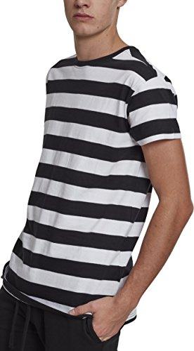 Urban Classics Herren Block Stripe Tee T-Shirt, Mehrfarbig (Black/White 00050), Small (Herstellergröße: S)