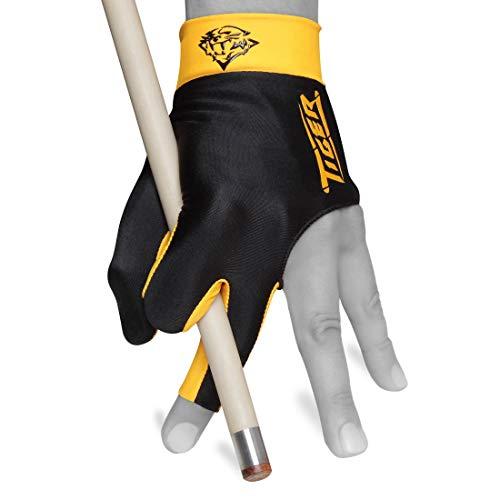Tiger Billard Handschuh–für die Linke Hand, schwarz, Large