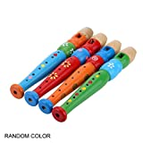 Panamami 6 Agujeros portátil de Madera Flauta flautín de Sonido Instrumento Musical Regalo de Juguete de educación temprana para bebés niños - Aleatorio