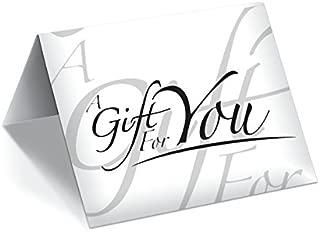 Gift Card Presenter (White - Italic) 200 Pack