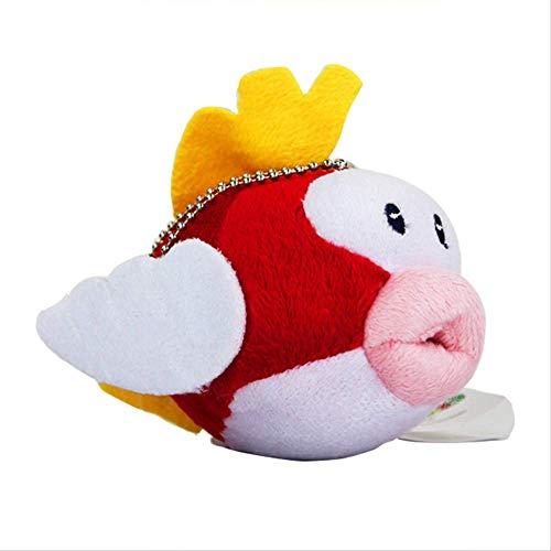 Super Mario Bro Flying Fish Plush Toy Soft Doll con Llavero Colgante De Felpa 12Cm
