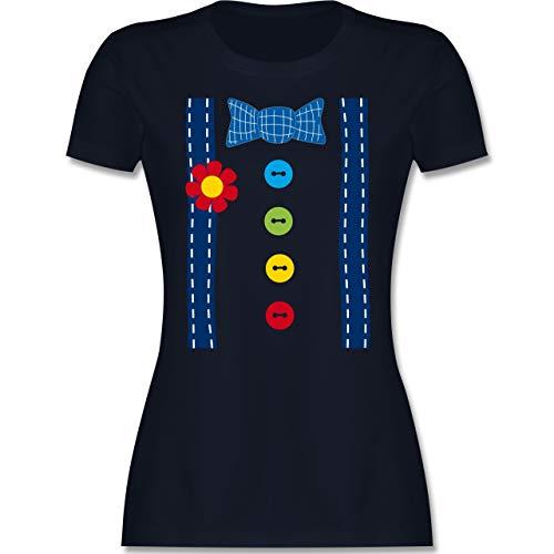 Karneval & Fasching - Clown Kostüm blau - M - Navy Blau - Clown kostüm Frau - L191 - Tailliertes Tshirt für Damen und Frauen T-Shirt