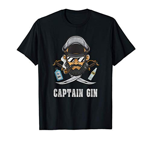 Gin Spruch | Captain Geschenk Lustig Alkohol Tonic Party T-Shirt