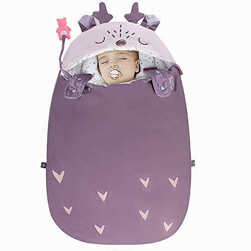 N\A Sacos De Dormir para Niños Y Niñas Sacos De Manta para Bebés, Diseño De Empaque Biónico, Grueso Y Cálido, Conforta íNtimamente Al Bebé, a Prueba De Golpes Y Sueño Cómodo Púrpura