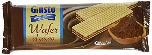 Giusto Biscotti Wafer al Cacao senza Zucchero 150 G