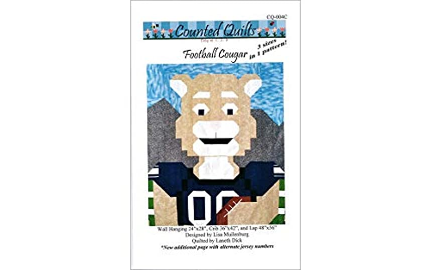 Counted Quilts Football Cougar Quilt Pattern