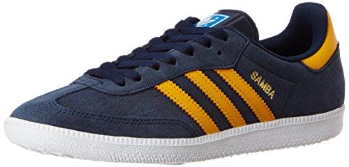 adidas Samba, Unisex-Erwachsene Sneakers,  blau/gelb,  40 EU