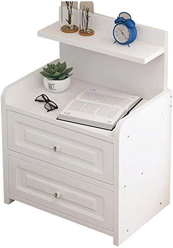 File cabinets Mesita de noche mesita de noche para el hogar, sala de estar, dormitorio, cuarto de baño, doble bombeo, pasillo de pie, armario auxiliar (color: blanco)
