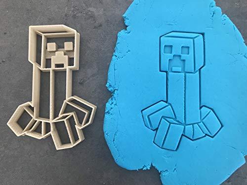 Kekstempel/Ausstechform Minecraft versch. Logos aus biolog. PLA ca.8cm Fondant (Creeper)