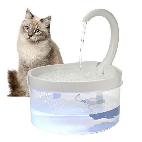 Katzen Wasserspender, Umlauffilter System, Gut Sichtbarer Wasserstand, Ultra Silent Wasserspender Für Katzen, Kätzchen, Hunde, Haustiere Mit Nachtlicht Und Automatischer Abschaltfunktion