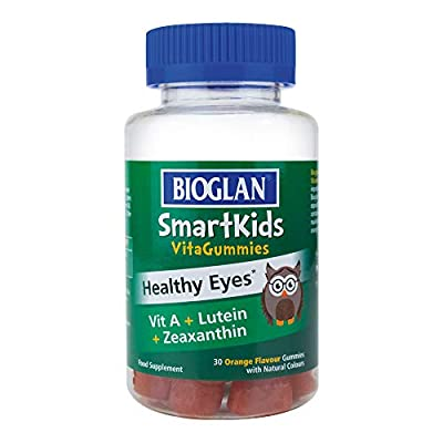 Bioglan SmartKids Healthy Eyes | Vitamin A | Lutein | Zeaxanthin | 30 Gummies