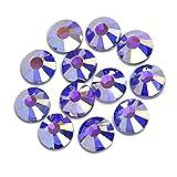 BrillaBenny Cristales Sapphire azul Shimmer violeta metalizado termoadhesivos Hotfix Vestido patinaje Creación joyas (1400, SS16/4 mm)