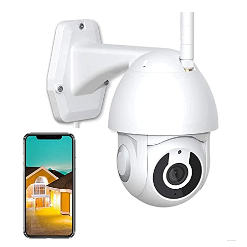 Vigilancia WiFi Cámara CCTV Inalámbrica IP Al Aire Libre De Alta Definición 1080P Detección De Movimiento Detección Impermeable IP66 Cámara PTZ, Alarma De Aplicaciones, Visión Nocturna(Size:camera+8g)