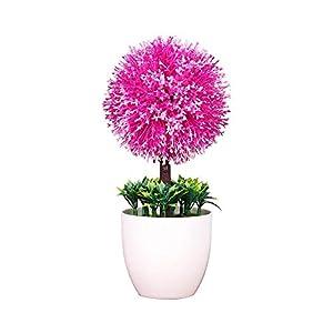 Yuaja Single Simulation Mini Plastic Silk Snowball Flower Plants Textured Cactus-Facial Flower Artificial Succulents-Facial Plants Aloe Plants Suitable for Garden Home Office Decoration