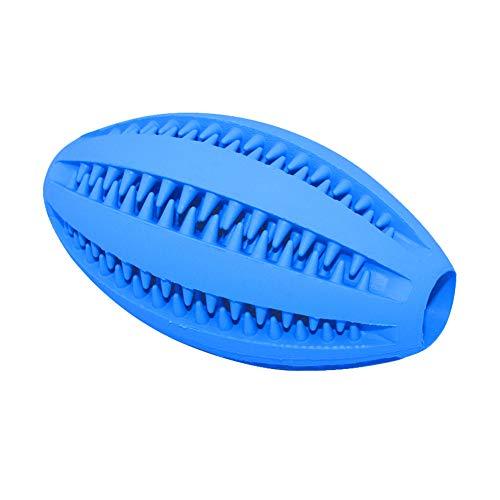 pengyu- Haustier-Rugby-Ball, Gummi, für Hunde/Katzen, Welpen, Zähne, Zahnreinigung, Lebensmittel-Halter, Spielzeug, Hundespielzeug, Haustierbedarf