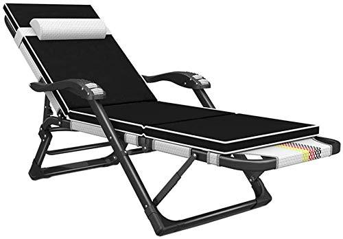 KEYREN Zero Gravity - Sillón plegable con reposabrazos de masaje, interior y exterior, color blanco (color: con almohadilla)