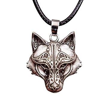 wolf pendant for men