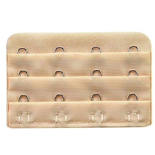 Daorier–Set di 5inserti estensori per reggiseno con attacchi (4ganci 3file), Couleur de chair, 4 Crochet 3 Rangées