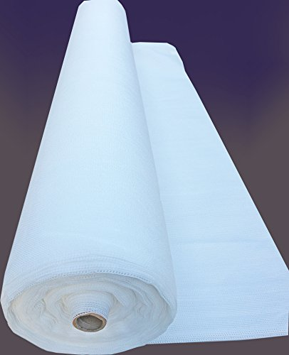 SHANS 90% UV Shade Cloth Fabric Pure White 10ft by 40ft with Plastic Grommets Clips Free