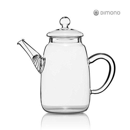 Teekanne aus Glas mit Teefilter klassische Tee-Filter Kanne 600ml von Dimono - 2