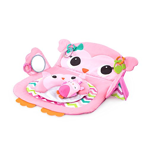 Bright Starts, Tapis d'Eveil Hibou Tummy Time Prop & Play