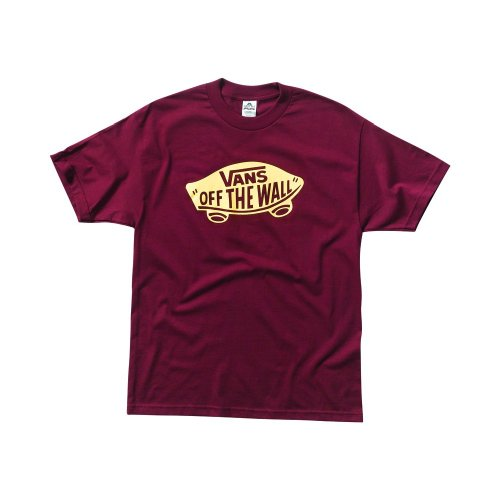 VANS Herren T-Shirt OFF THE WALL, Burgundy, M (Medium)