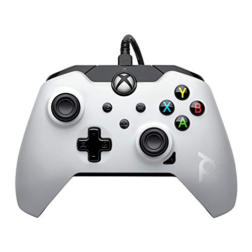 PDP Mando con cable para Xbox Series X, Blanco (Arctic White)