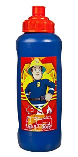Undercover FSBT9911 Sportflasche aus Kunststoff, BPA und Phthalat frei, Feuerwehrmann Sam, ca. 450 ml, Rot/Blau