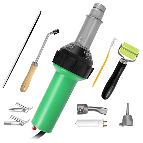 S SMAUTOP Pistola de Aire Caliente 1600W Soldador de Plástico 30-680 ℃ Kit de Soldadura de Aire Caliente de Plástico PVC con Boquillas Reemplazadas Ruido 220V≤65db Para Reparar Plástico