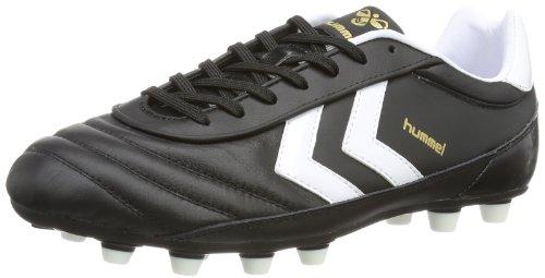 Hummel OLDS SCHOOL DK FG KANGEROO 61-306-2403, Unisex-Erwachsene Fußballschuhe, Schwarz (BLACK/WHITE/GOLD 2403), EU 44.5 (UK 10)