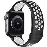 Fengyiyuda Kompatibel mit Apple Watch Armband 38mm 40mm 42mm 44mm, Weiche Silikon Sport Ersatz...
