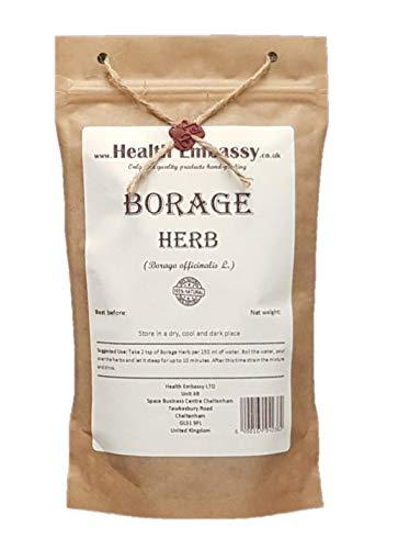 Health Embassy Borretsch Kraut Tee (Borago officinalis L) / Borage Herb Tea, 50g