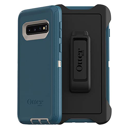 OtterBox DEFENDER SERIES SCREENLESS EDITION Case for Galaxy S10 - BIG SUR (PALE BEIGE/CORSAIR)