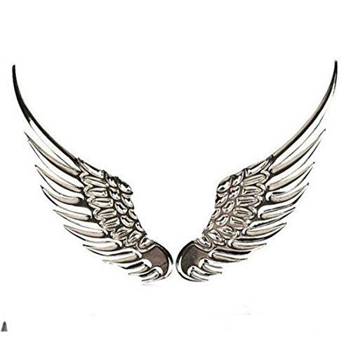 2Auto Styling Fashion Metall Aufkleber 3D Flügel Auto Aufkleber Auto Motorrad Zubehör Gold Silber