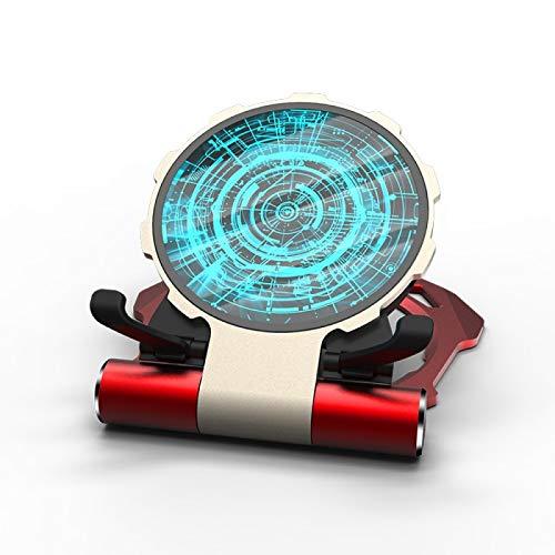 Cargador inalámbrico redondo Iron Man Soporte de teléfono móvil portátil plegable para escritorio Soporte de metal para automóvil