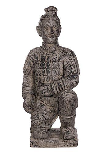 Riesige XXL schwere (8 kg) Statue Terrakotta Krieger, chinesischer Krieger, 82 cm
