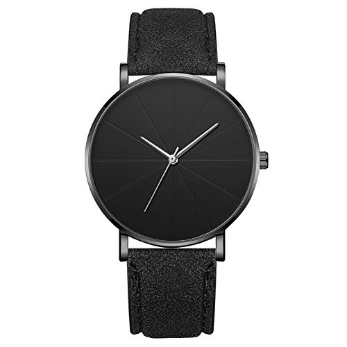 Reloj de moda simple Dial redondo Pantalla analógica Reloj de pulsera de cuarzo Accesorio de joyería Reloj de pulsera para hombres (# 2)