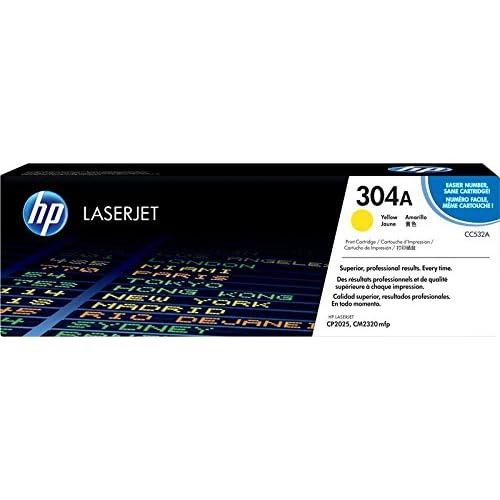 HP 304A CC532A, Cartuccia Toner Originale, da 2800 Pagine, È Compatibile con le Stampanti HP Color Laserjet Serie CP2020 e CM 2300, Giallo
