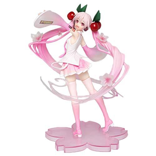Figura de acción de Hatsune Miku de 20 cm, Juguetes Modelo para niños muñecas, Modelo Lindo Rosa de Hatsune Miku