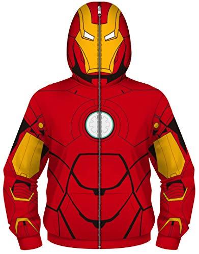 Silver Basic Mädchen Kapuzenpullover Spiderman Print Kostüm Jacke Sweatshirts Mit Kapuze,Iron Man,M-3