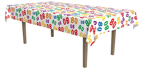 Multicolor Number 80 Tablecloth