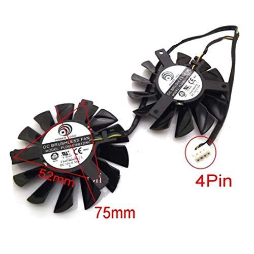 QHXCM PLD08010S12HH 12V 0.35A 75mm 52x52x52mm Fan for MSI Hawk R7850 HD7850 HD7950 R7870 HD7870 GTX650 Twin Frozr Cooling Fan Cooler