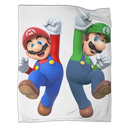 Manta de invierno para sofá Super Mario Bros Cheering Pose moderna y moderna para todas las estaciones, juego de cama de 180 x 230 cm