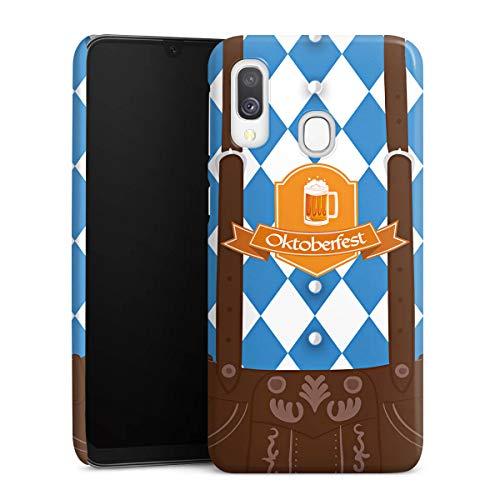 DeinDesign Premium Case kompatibel mit Samsung Galaxy A40 Hülle Handyhülle Bier Feiern Lederhose