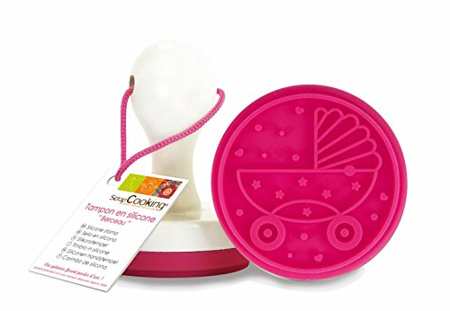 ScrapCooking Cradle Silicone Stamp with Handle for Cookies and Fondant